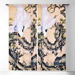 Ito Jakuchu - Dead Wood And Eagle, Monkey - Digital Remastered Edition Blackout Curtain