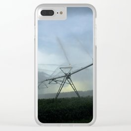 Evening Sprays in Gray Clear iPhone Case