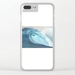 """Caspian's Wave"" Clear iPhone Case"