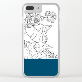 VESSEL - Floral Ink in Peacock - Cooper and Colleen Clear iPhone Case