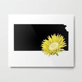Kansas Silhouette Metal Print