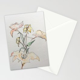 Resting flowers Stationery Cards
