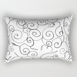 Filigree: Black + White Rectangular Pillow