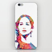 katniss iPhone & iPod Skins featuring Katniss by lauramaahs