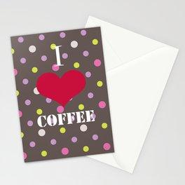 I Love Coffe Stationery Cards