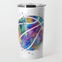 Basketball Watercolor Art Print Sports Poster Home Decor Kids Room Sports Painting Nursery Decor Travel Mug