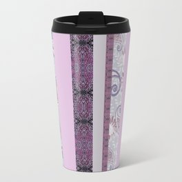 zakiaz French Stripe Lavender Travel Mug