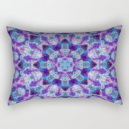 Luminous Crystal Flower Mandala Rectangular Pillow