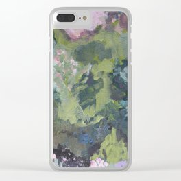 Spring garden, impressionist painting Clear iPhone Case