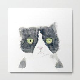 Thinking Cat Metal Print