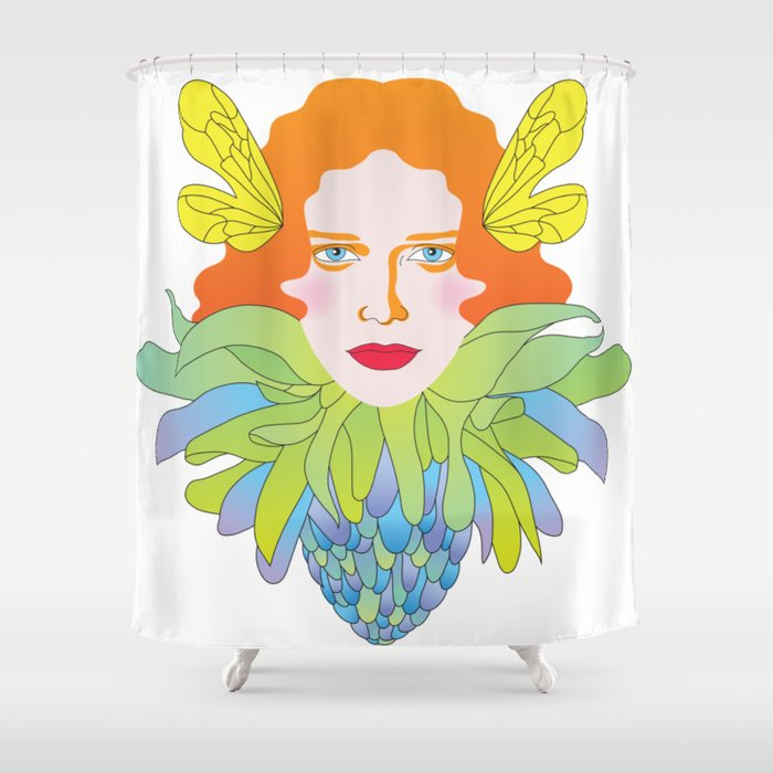 Futility Cornucopia Shower Curtain