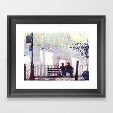 New York - Douce lumiere Framed Art Print