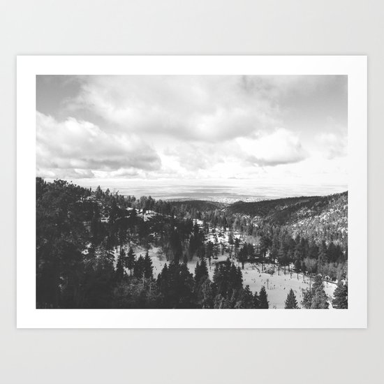 Mountains and Desert view Art Print