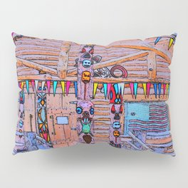 Totem Log Cabin Pillow Sham