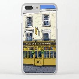 London Pub Clear iPhone Case