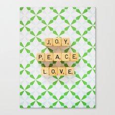 Joy Peace Love Canvas Print