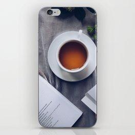 Coffee, Flowers & Poetry For Me, Please iPhone Skin