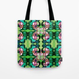 Ultra Garden Green Feng Shui Stunning Psychedelic Abstract Tote Bag