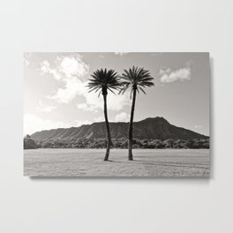 B&W Diamond Head Metal Print