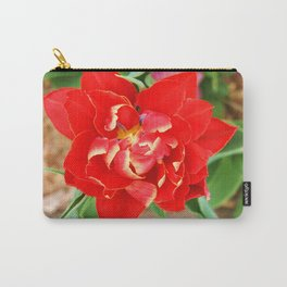 Ruffled Red Carry-All Pouch