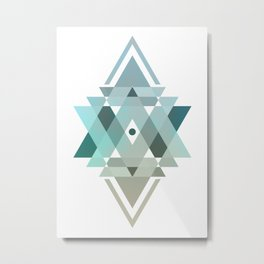 Complicated Abstract Metal Print