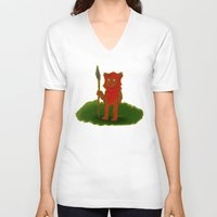 ewok V-neck T-shirts featuring Ewok by Delucienne Maekerr