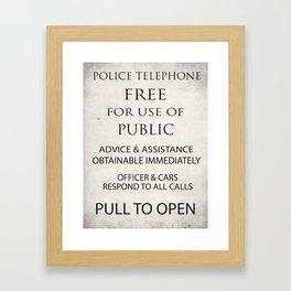 TARDIS Notice Framed Art Print