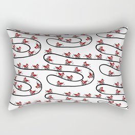 Fox on Bicycle Rectangular Pillow