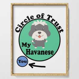 Circle Of Trust Cute Havanese Serving Tray
