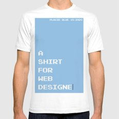 BDFD - Web Designer LARGE Mens Fitted Tee White