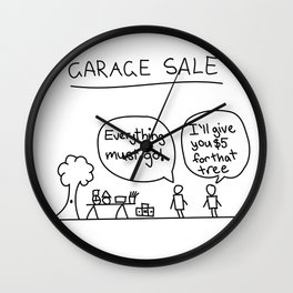 Garage Sale Wall Clock