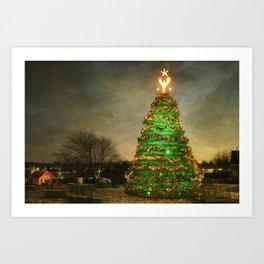 Rockland Lobster Trap Christmas Tree Art Print