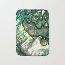 Shimmering Green Abalone Mother of Pearl Bath Mat