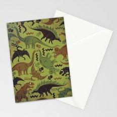 Camouflage Dinosaur Geometric Pattern Stationery Cards