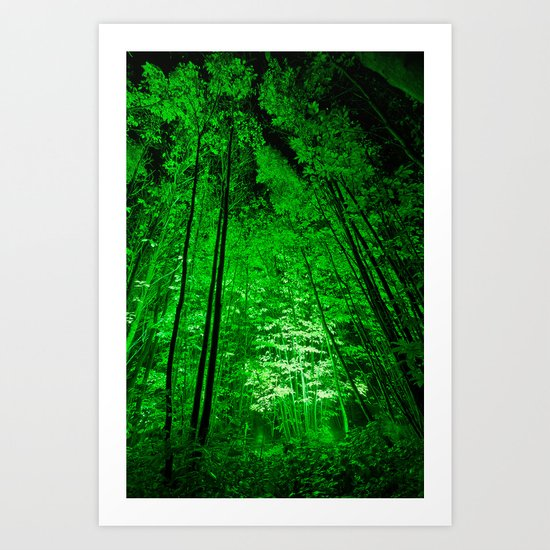 Electric Forest Green Art Print