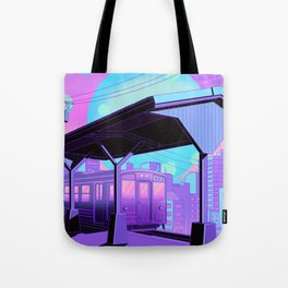Train to Midnight City Tote Bag