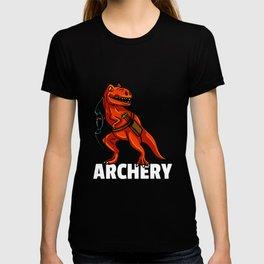 dinosaur archery Archer arrow and bow T-shirt