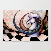 chess Canvas Prints featuring Chess by Solomiya Shevchuk