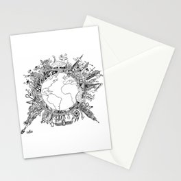 Mad World  Stationery Cards