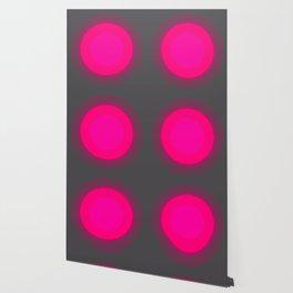 Hot Pink & Gray Focal Point Wallpaper