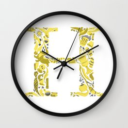 House H Wall Clock