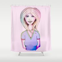 80s Shower Curtains featuring The 80s by IOSQ