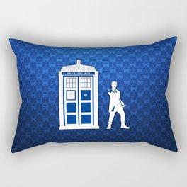 Tardis And The Doctor Rectangular Pillow
