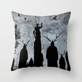 The Cult Throw Pillow
