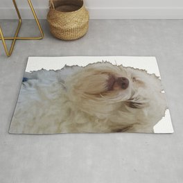 Grumpy Terrier Dog Face Rug