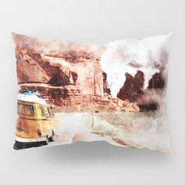 Bus Road Trip Abstract Pillow Sham