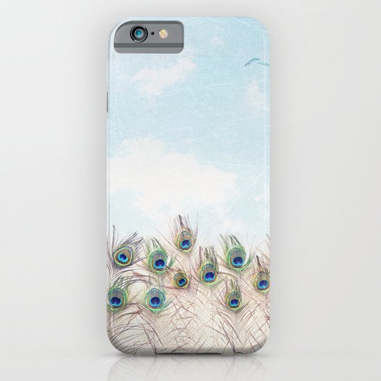 Fly Over A Peacock Field iPhone & iPod Case
