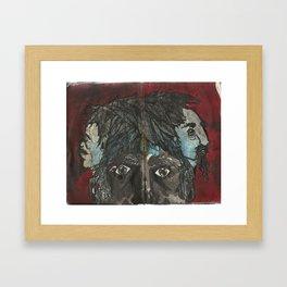 Something On My Mind Framed Art Print