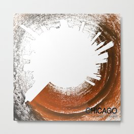 Planet Chicago - Abstract Metal Print