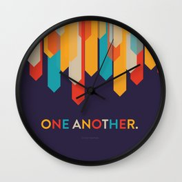 One Another Scripture Poster (Romans 14) Wall Clock